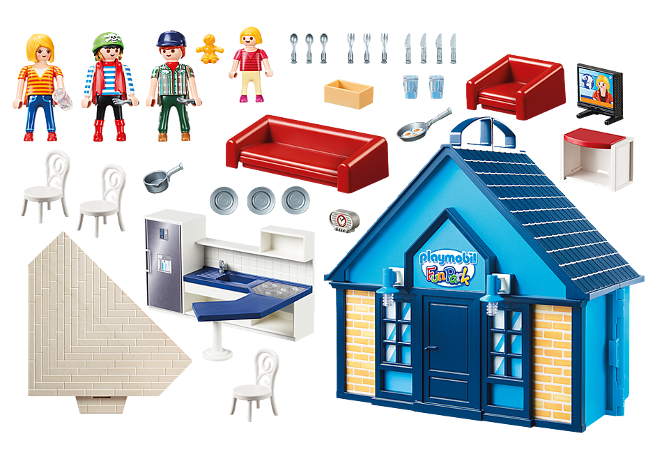 70219 PLAYMOBIL FunPark Summerhouse Take Along detail image 3