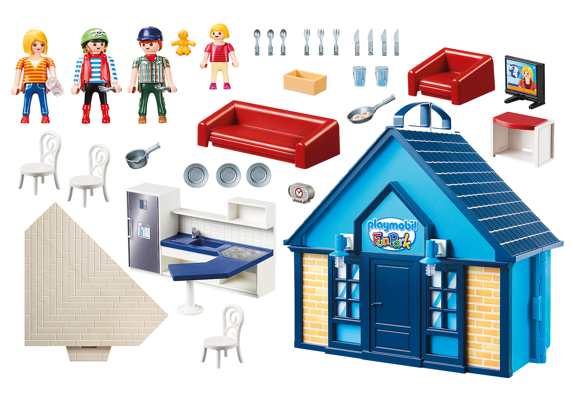 70219 PLAYMOBIL FunPark Summerhouse Take Along zoom image3