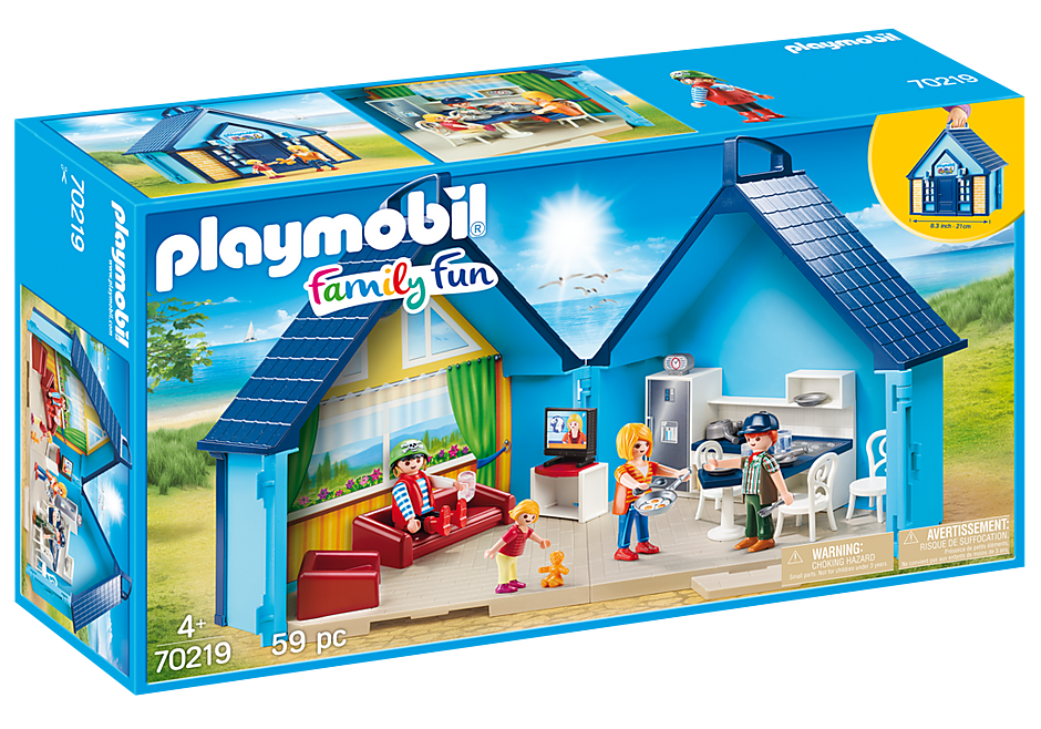 70219 PLAYMOBIL FunPark Summerhouse Take Along detail image 2