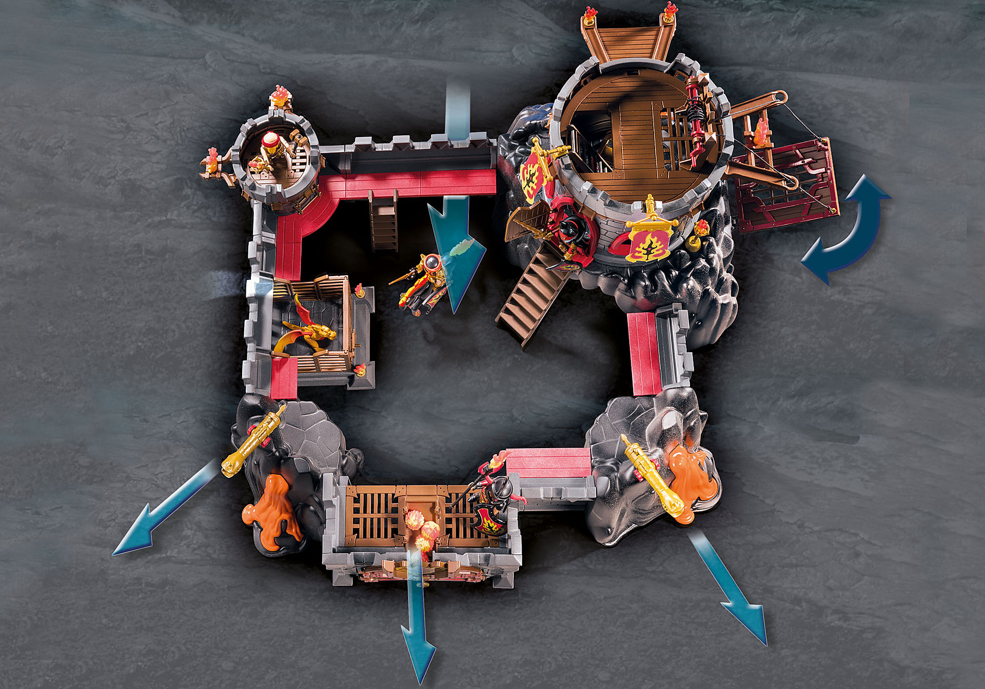 http://media.playmobil.com/i/playmobil/70221_product_extra2/Forteresse volcanique des Burnham Raiders