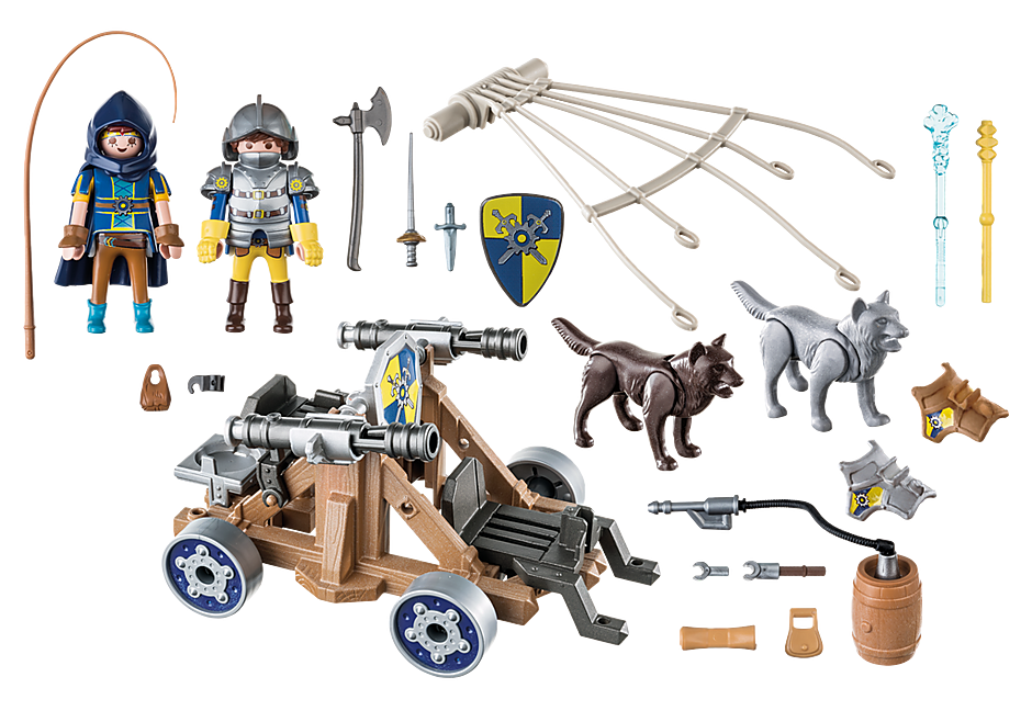 70225 Novelmore ridders met waterkanon en wolven detail image 3