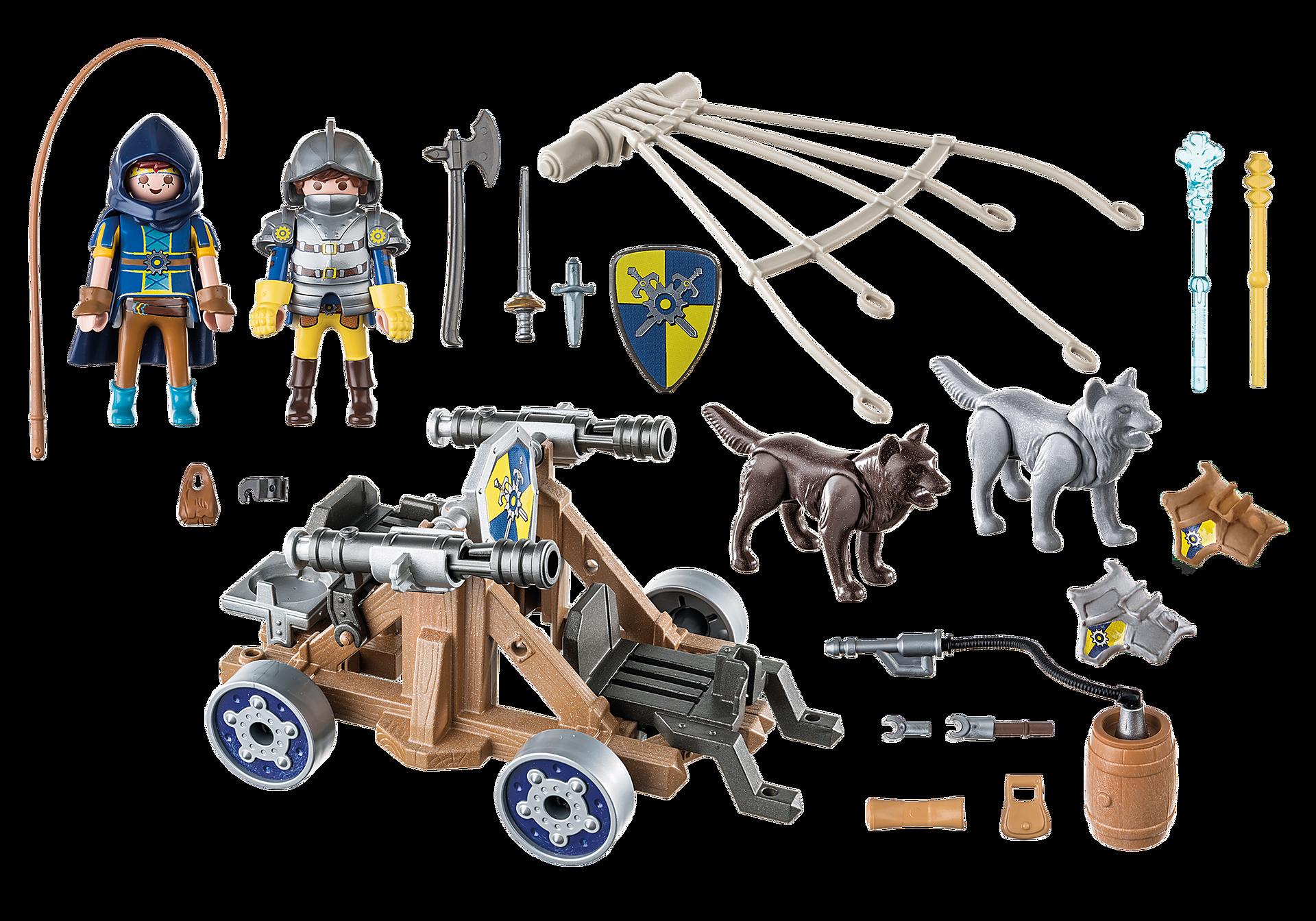 http://media.playmobil.com/i/playmobil/70225_product_box_back/Novelmore ridders met waterkanon en wolven
