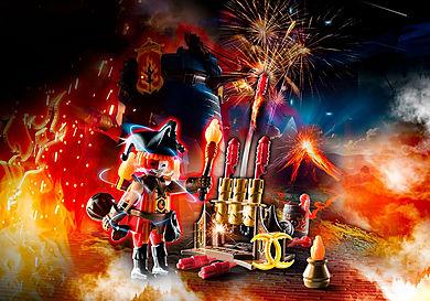 70228 Burnham Raiders Feuerwerkskanonen und Feuermeister