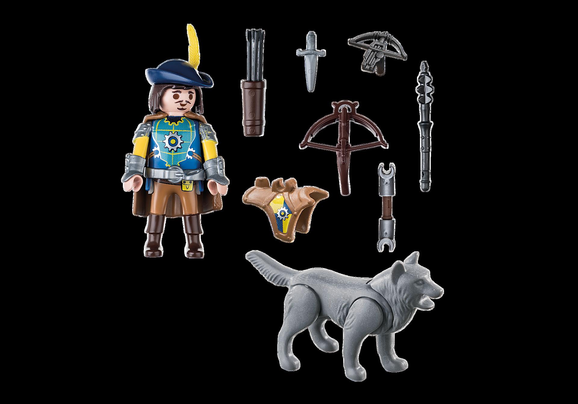 http://media.playmobil.com/i/playmobil/70229_product_box_back/Novelmore Armbrustschütze mit Wolf