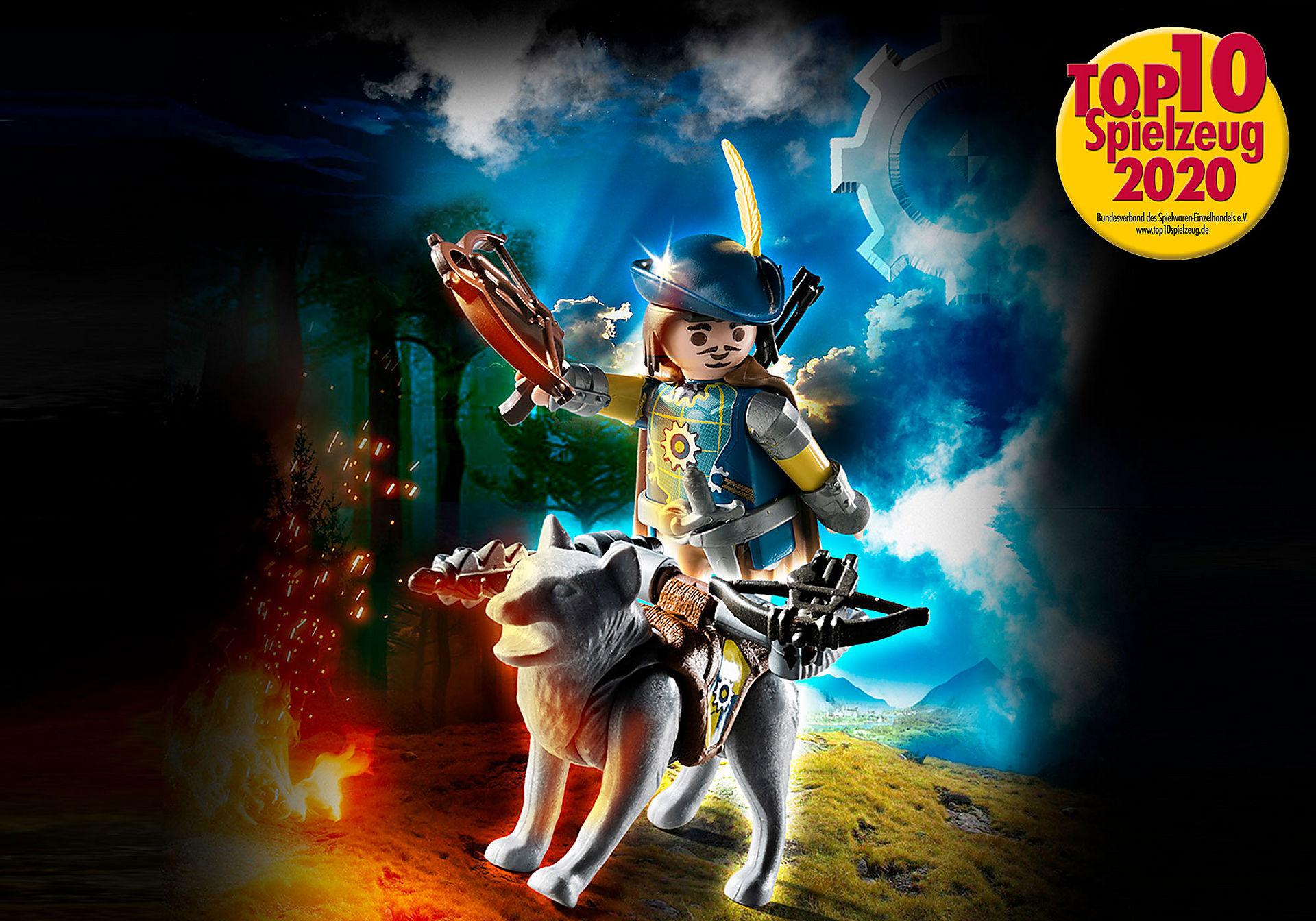 http://media.playmobil.com/i/playmobil/70229_product_detail/Novelmore Armbrustschütze mit Wolf