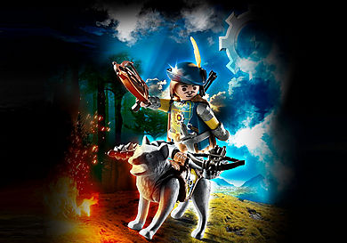 70229 Novelmore Crossbowman with Wolf