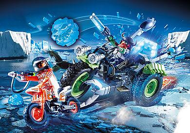 70232 Arktiske rebeller med trehjulet scooter