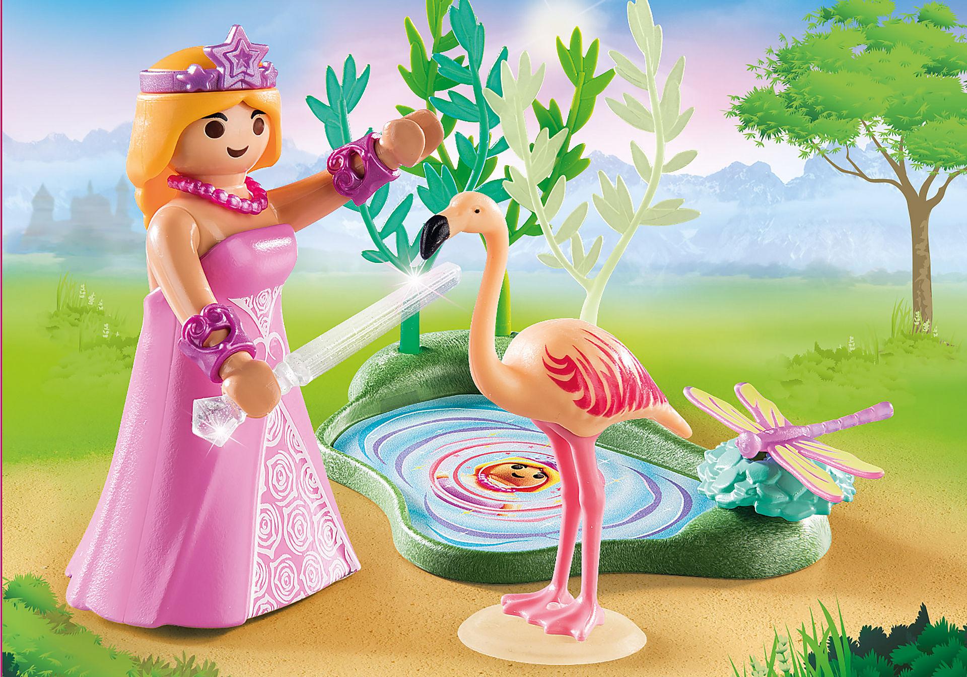 70247 Πριγκίπισσα με φλαμίνγκο zoom image1