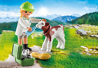 70252 Vétérinaire et veau