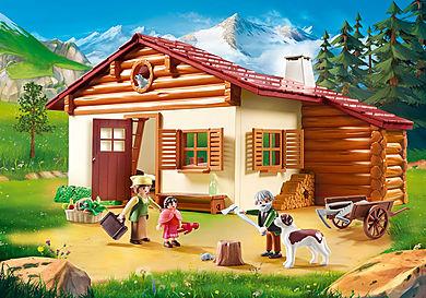 70253_product_detail/Heidi und Großvater auf der Almhütte