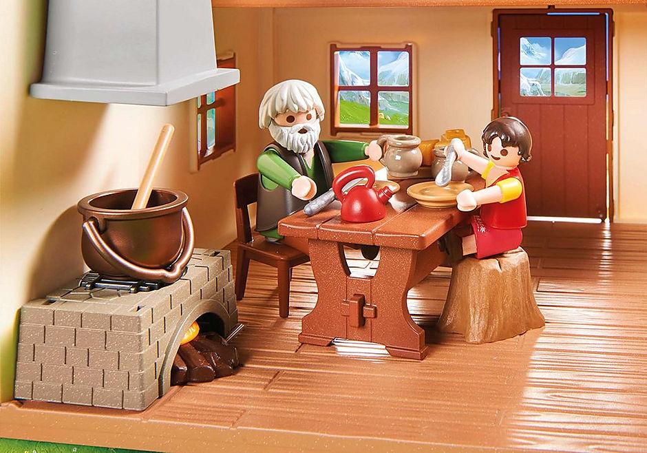 70253 Heidi avec grand-père et chalet detail image 5