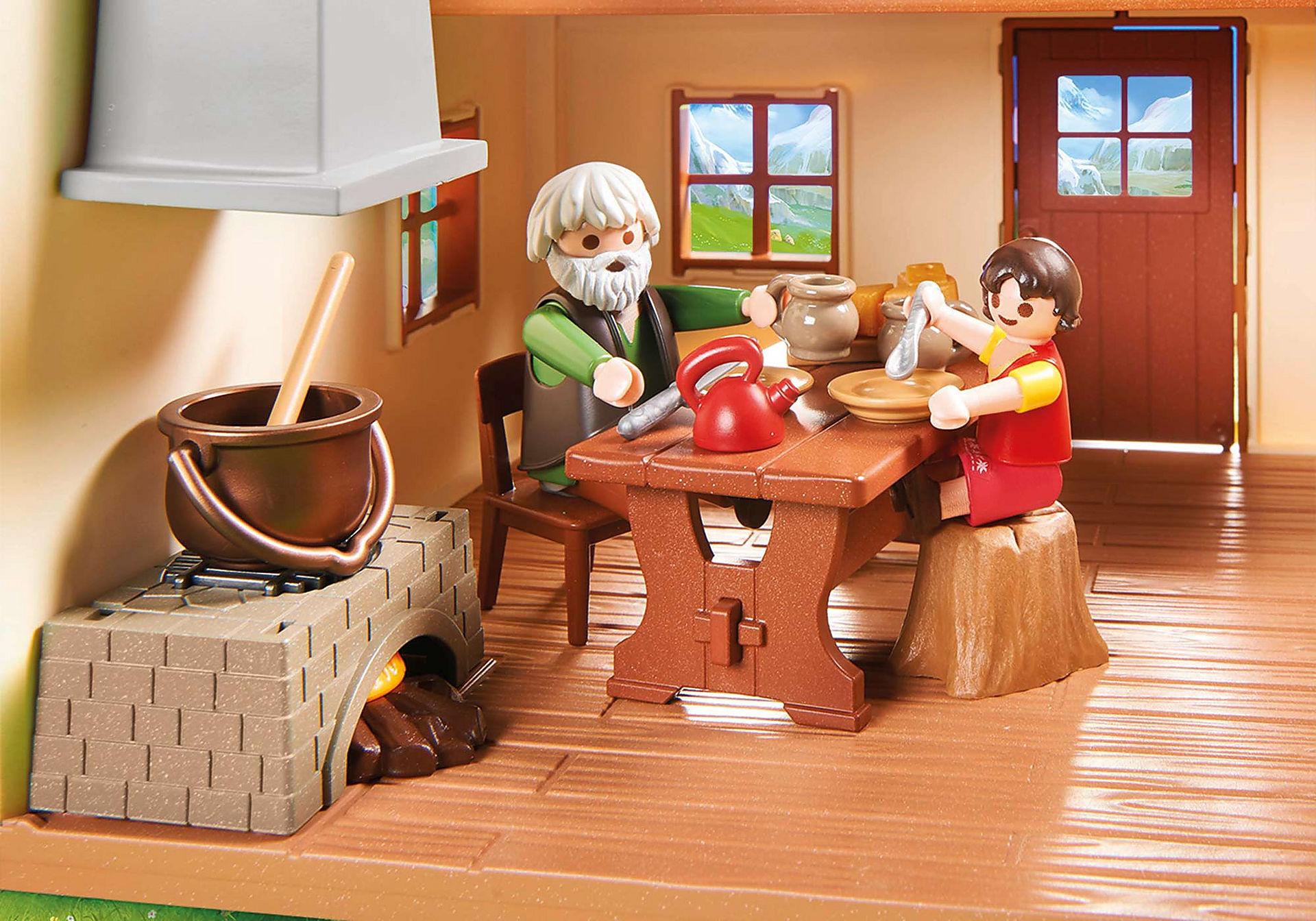 70253 Heidi avec grand-père et chalet zoom image5