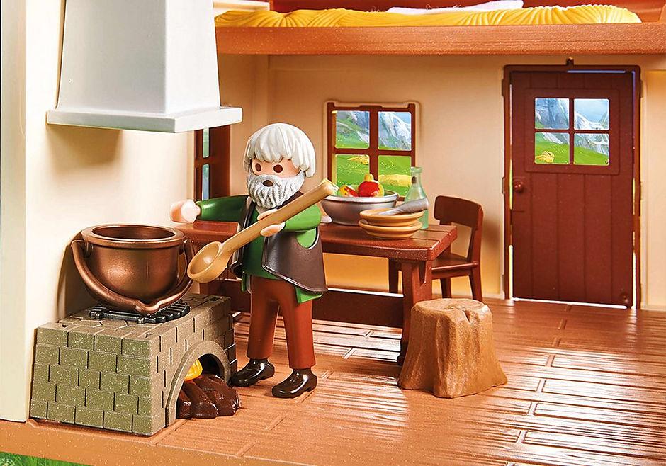 70253 Heidi avec grand-père et chalet detail image 8