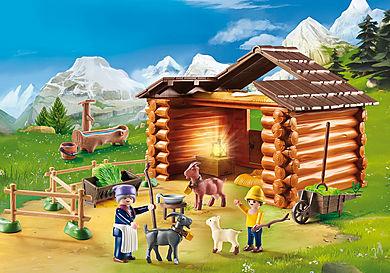 70255 Peter avec étable de chèvres