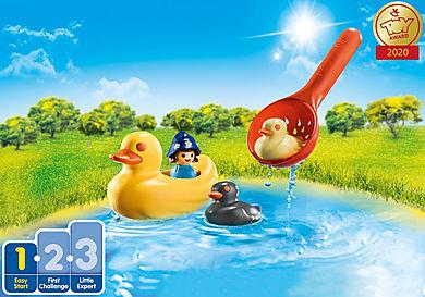 70271 Famille de canards et enfant