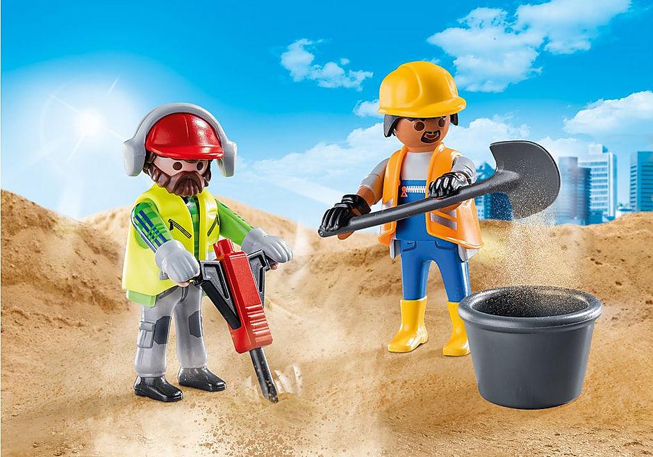 70272 Zwei Bauarbeiter detail image 1