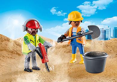 70272 Zwei Bauarbeiter