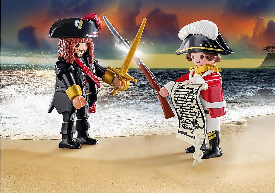 70273 Capitaine pirate et soldat detail image 1