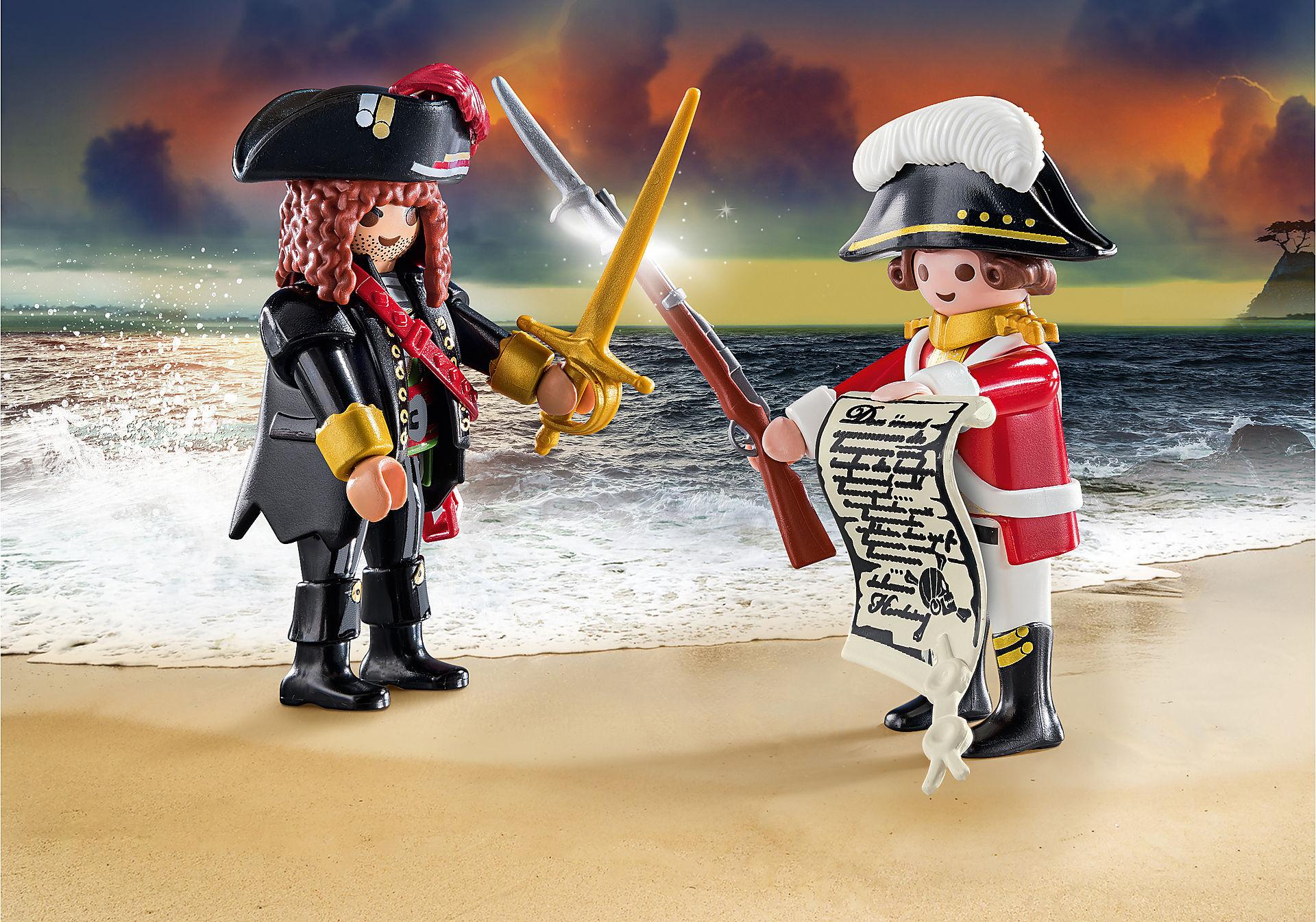 70273 Capitaine pirate et soldat zoom image1