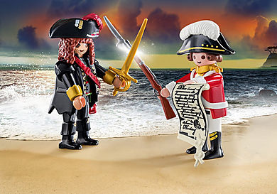 70273 Capitaine pirate et soldat