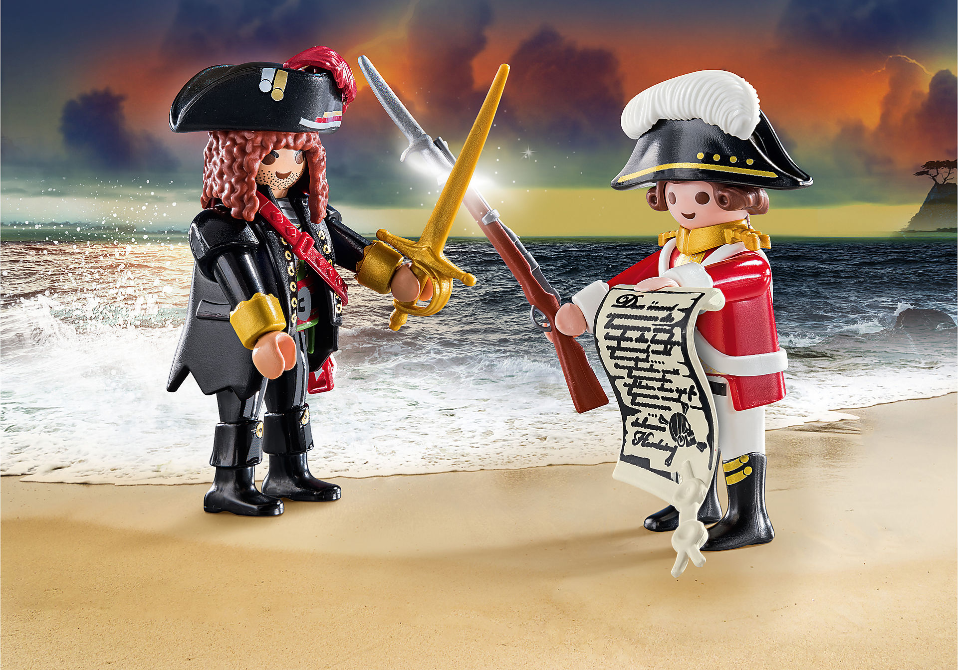70273 Capitaine pirate et soldat zoom image1