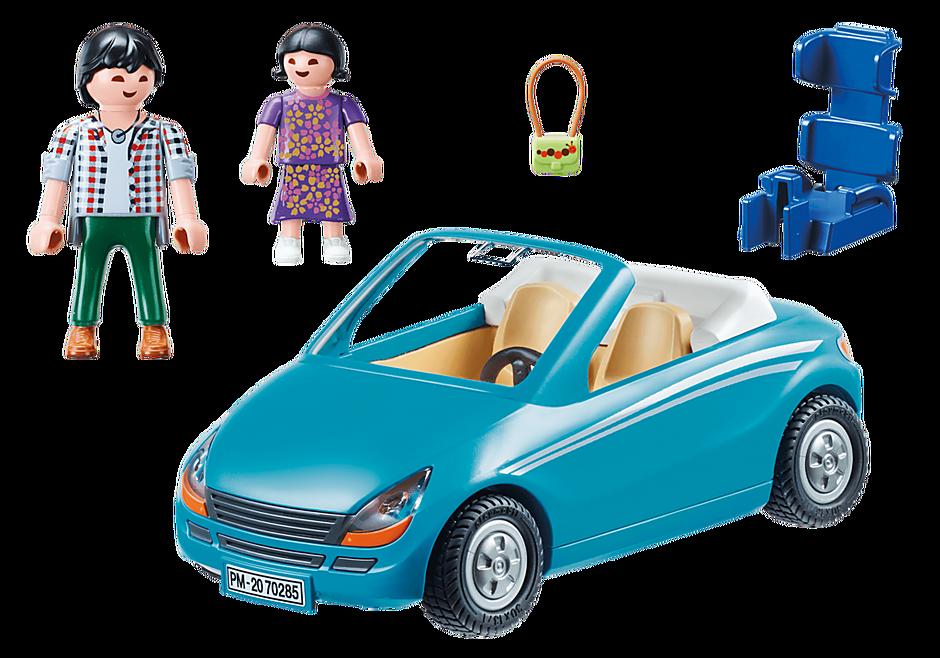70285 Isä, lapsi ja avoauto detail image 4
