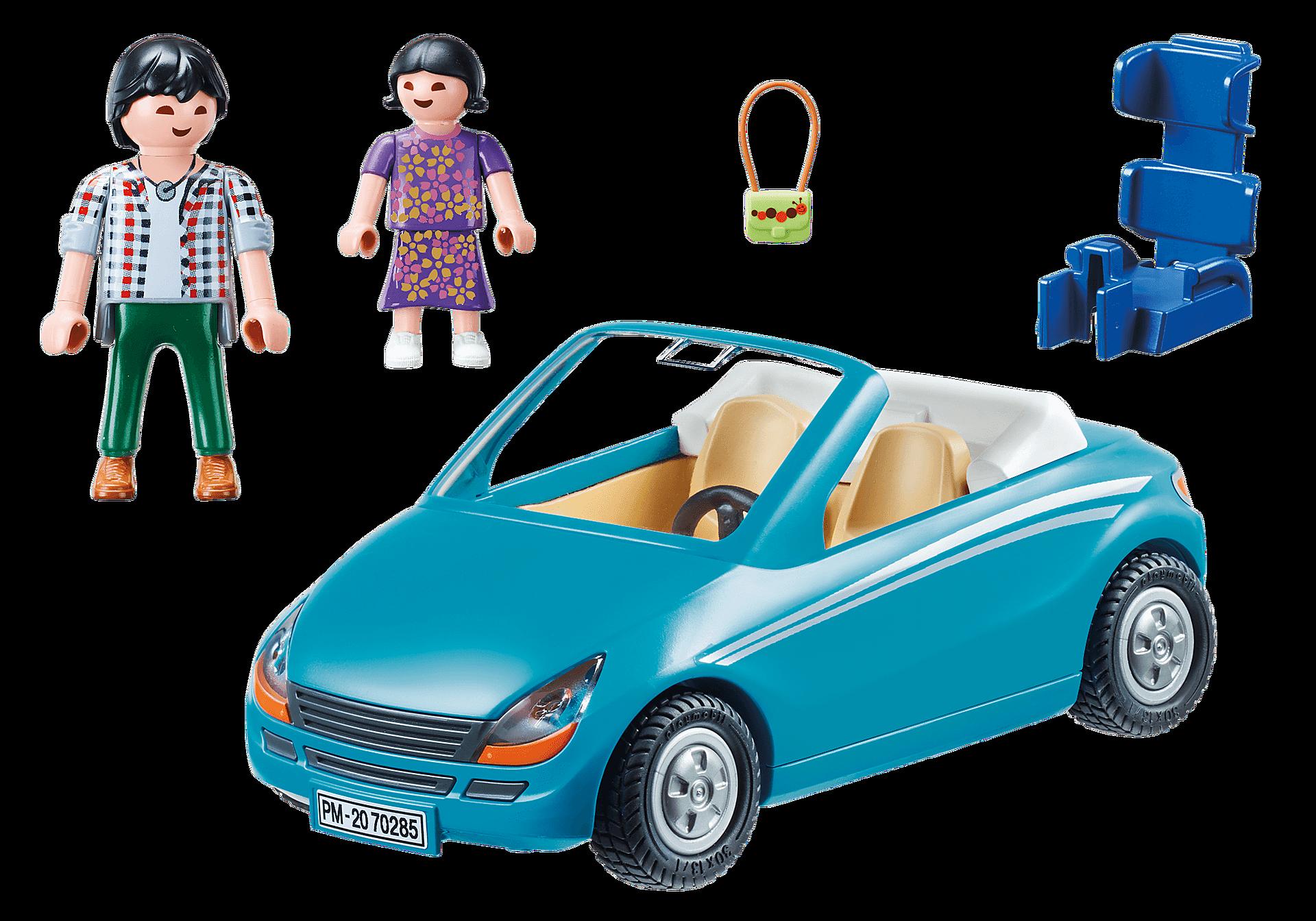 70285 Papa avec enfant et voiture cabriolet zoom image3