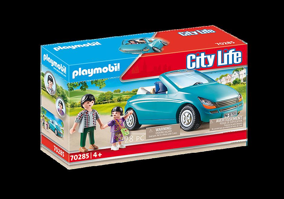 70285 Isä, lapsi ja avoauto detail image 3