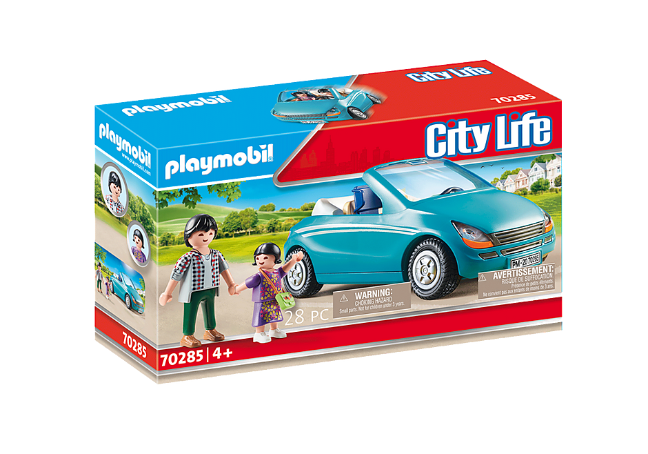 70285 Papa avec enfant et voiture cabriolet detail image 2