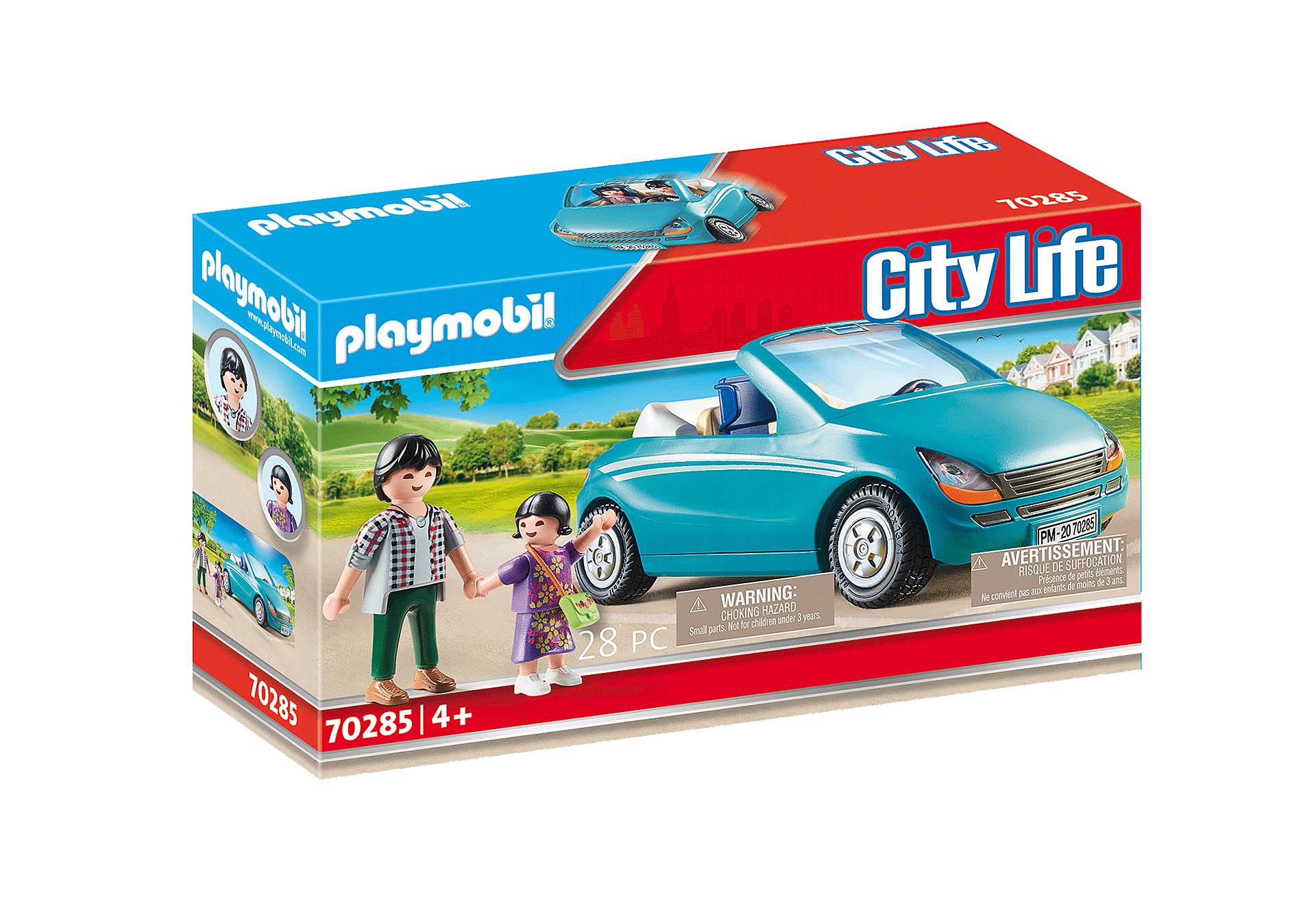 70285 Papa avec enfant et voiture cabriolet zoom image2