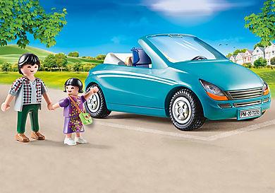 70285 Papa avec enfant et voiture cabriolet