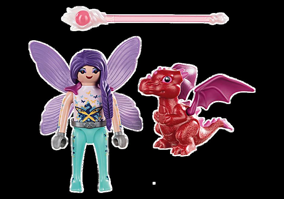 70299 Fée avec bébé dragon detail image 3