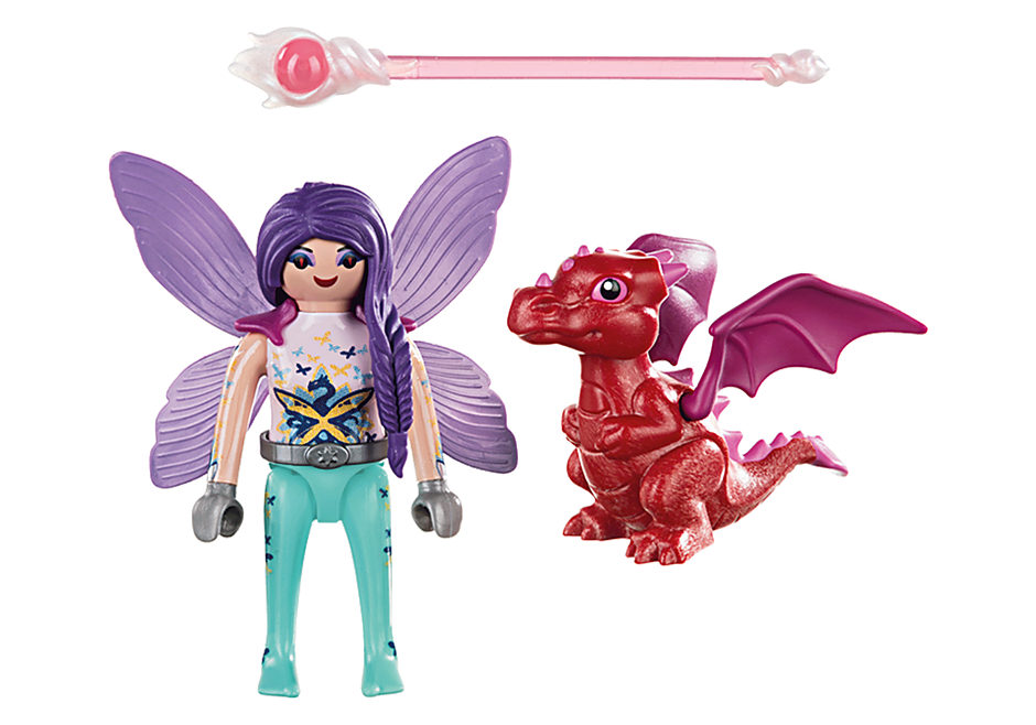 70299 Fairy with Baby Dragon detail image 3