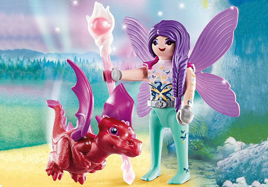 70299 Hada con Bebé Dragón detail image 1