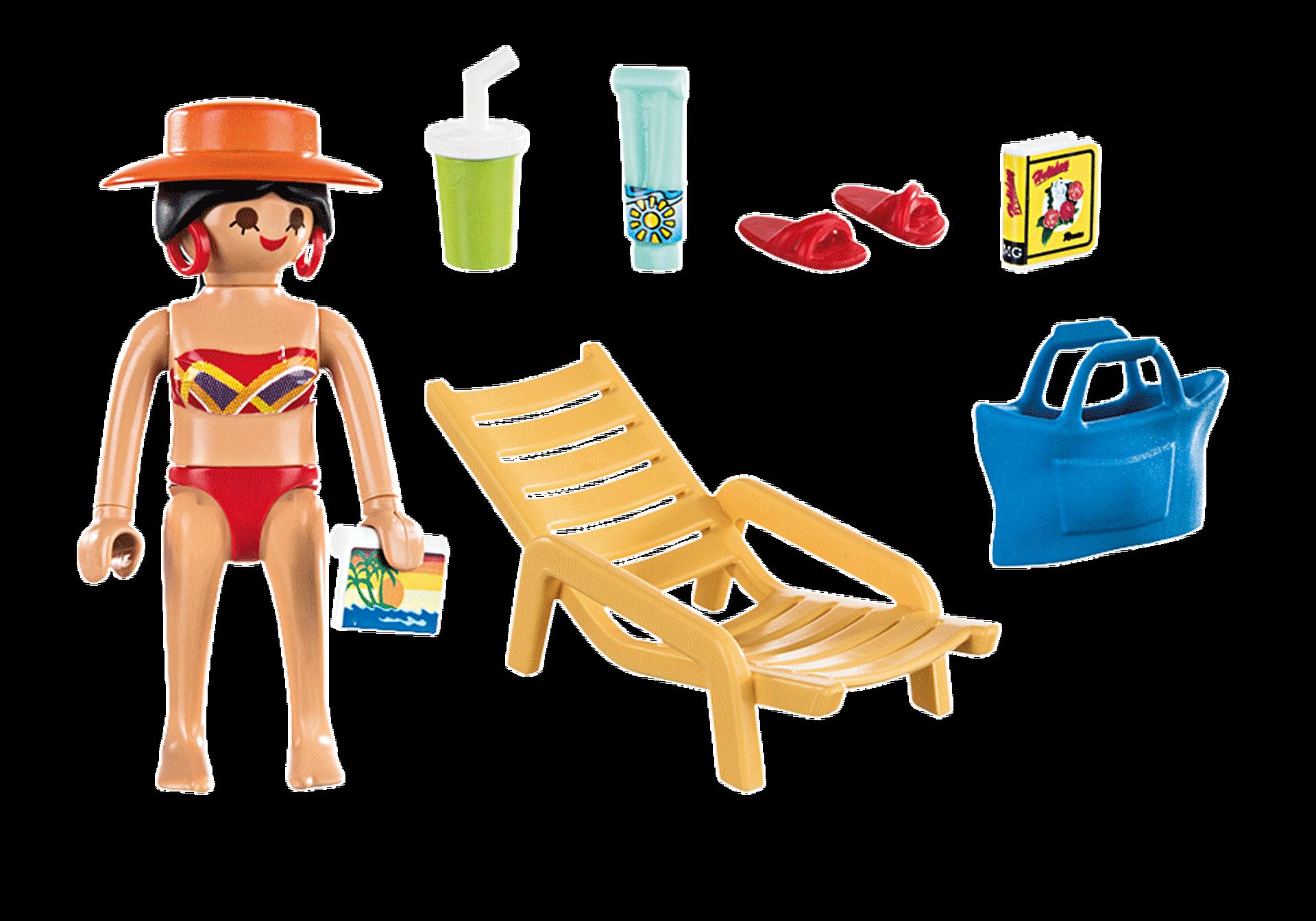 70300 Donna in vacanza con sedia a sdraio zoom image3