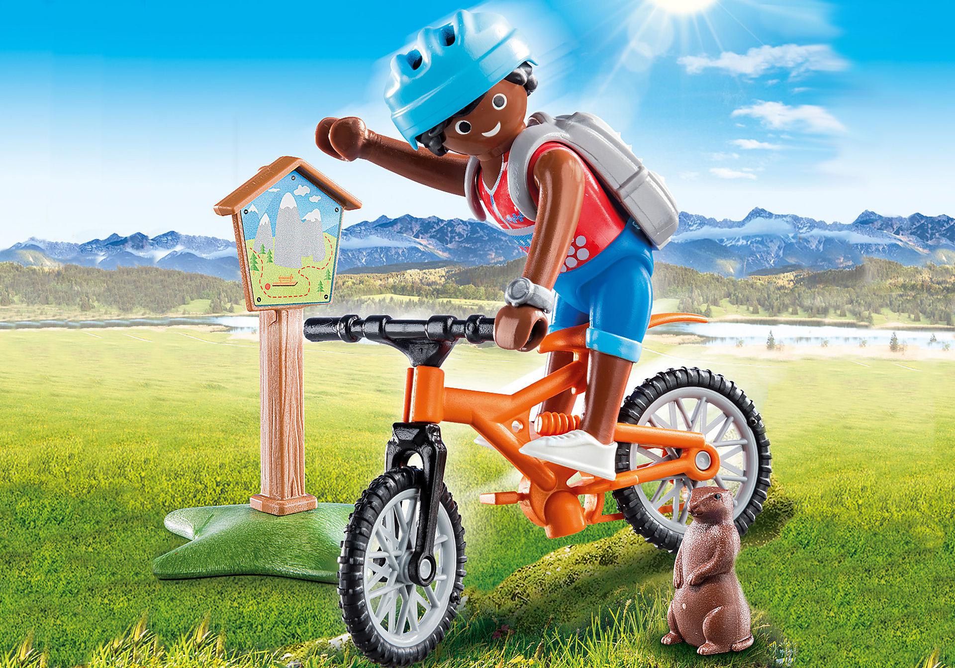 70303 Cycliste avec marmotte zoom image1