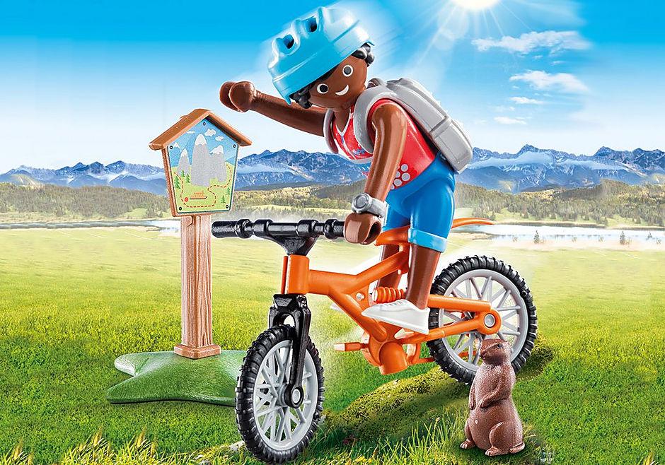 70303 Cycliste avec marmotte detail image 1