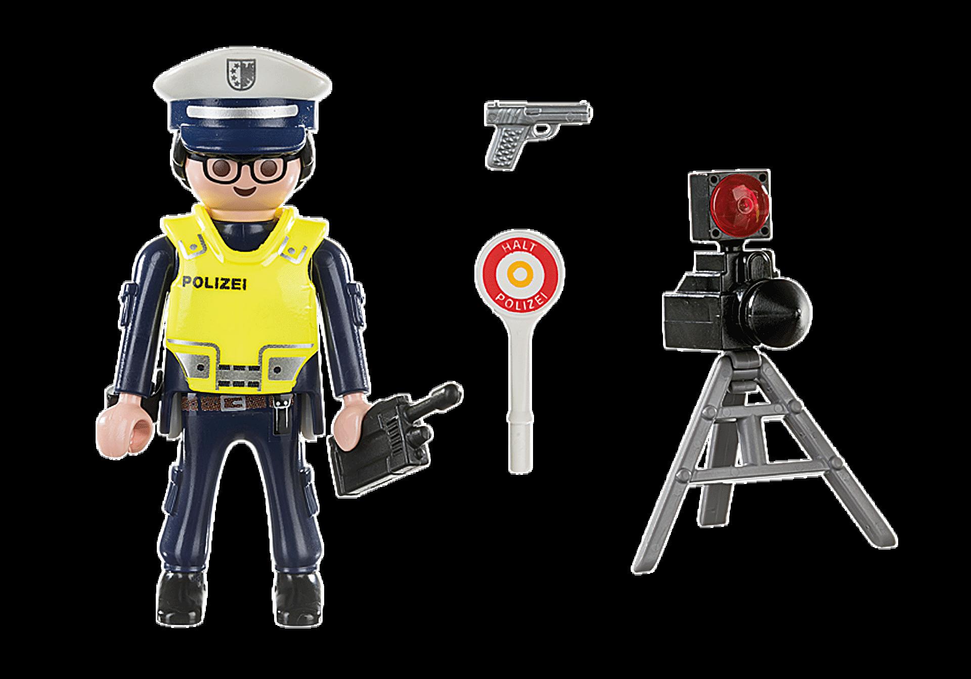 70304 Policier avec radar zoom image3
