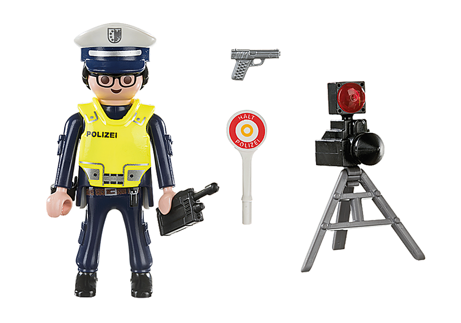 70304 Politieman met flitcontrole detail image 3