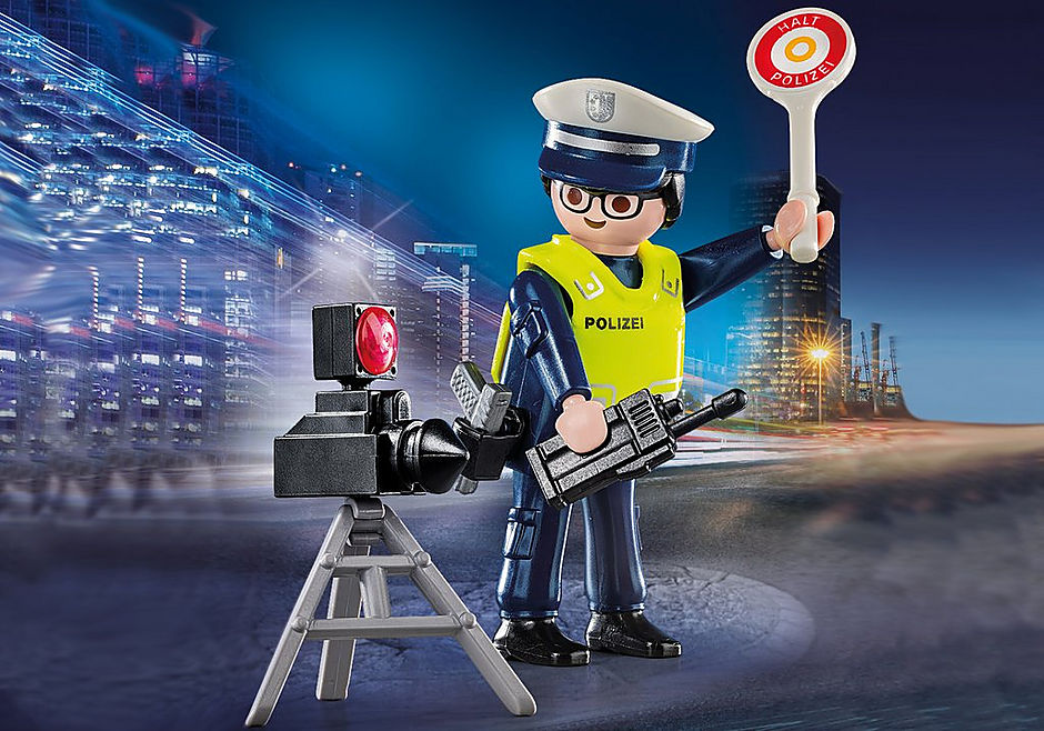 70304 Police Officer with Speed Trap detail image 1