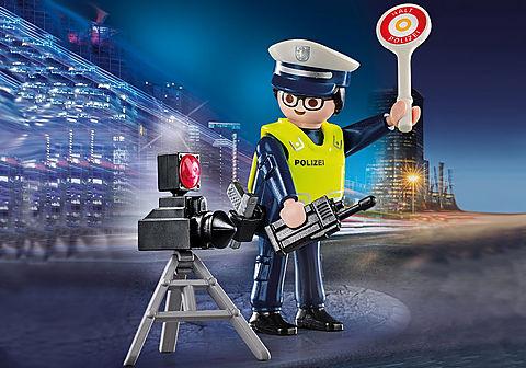 70304 Polizist mit Radarfalle