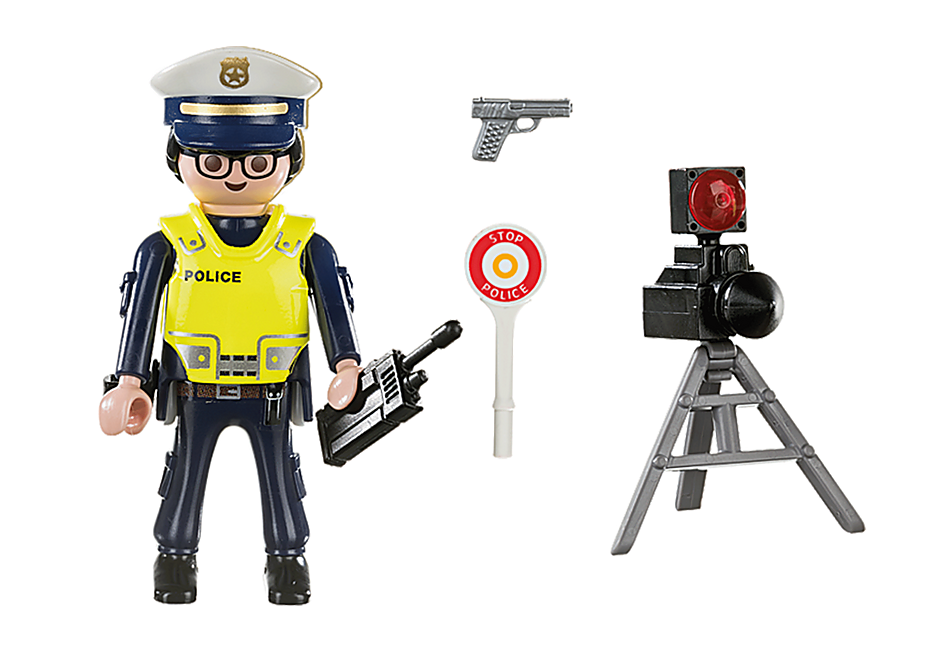 70305 Police Officer with Speed Trap detail image 3