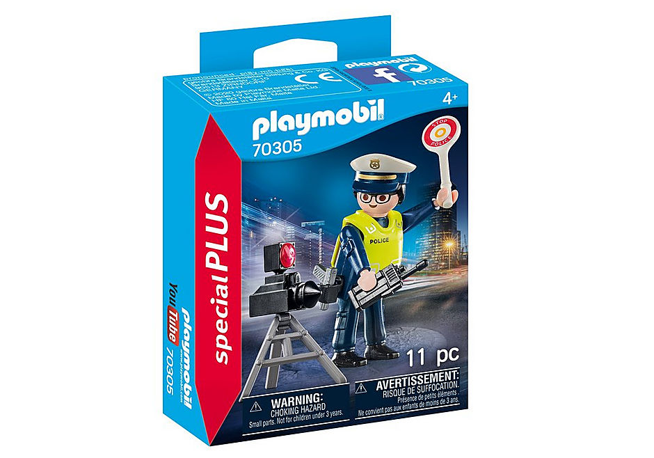 70305 Police Officer with Speed Trap detail image 2
