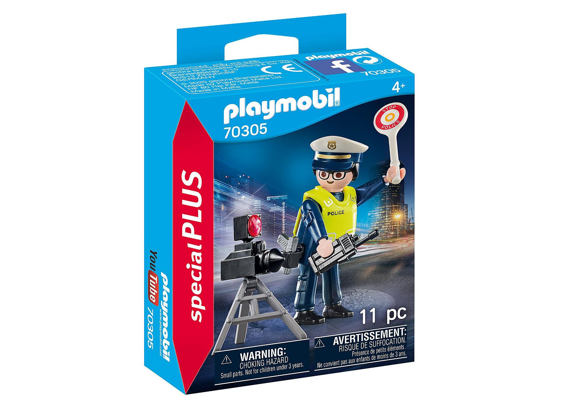 70305 Politieman met flitcontrole zoom image2