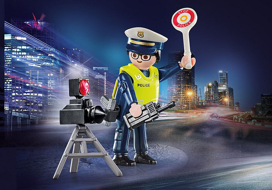 70305 Politieman met flitcontrole detail image 1