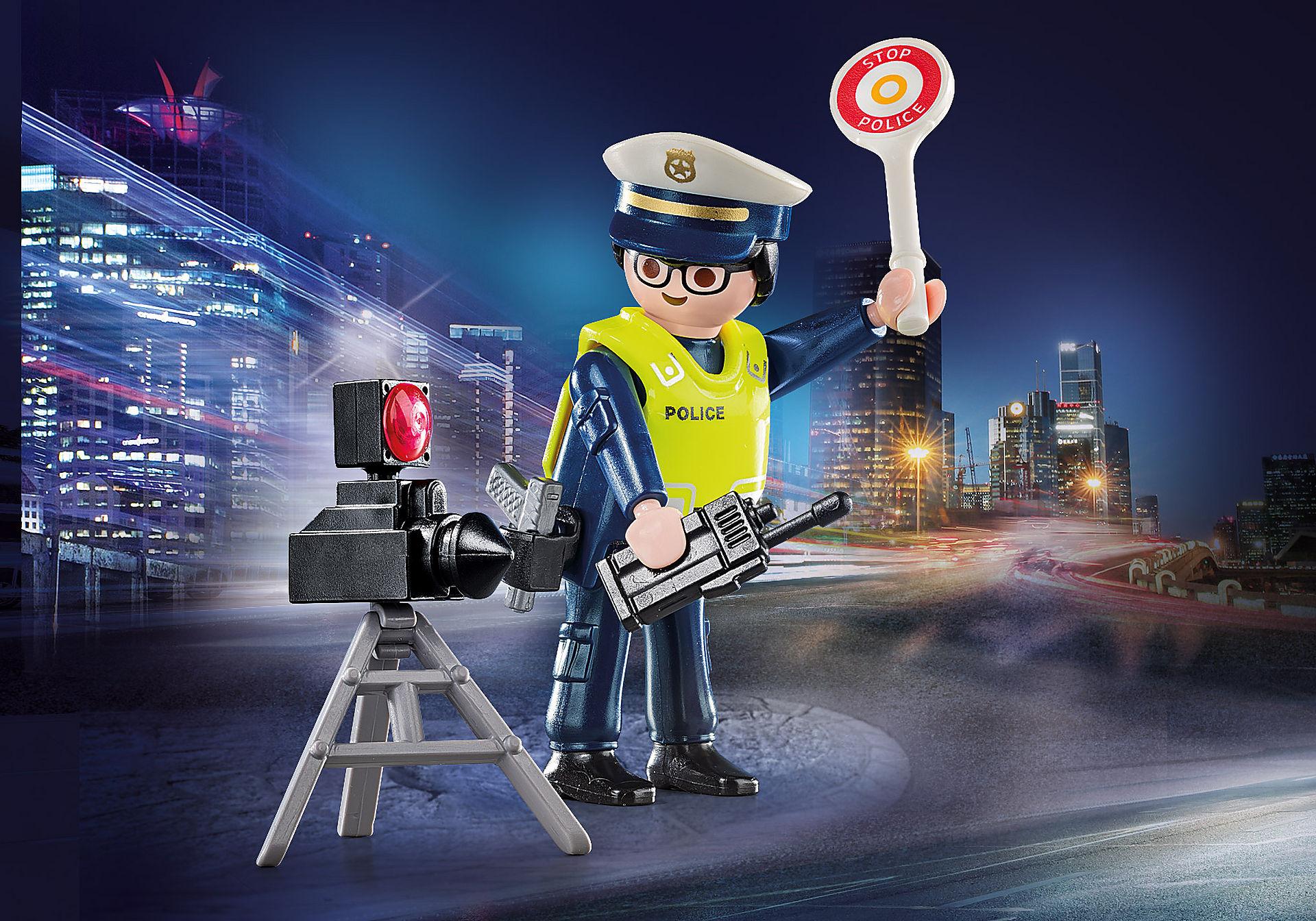 70305 Politieman met flitcontrole zoom image1
