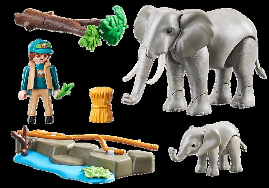 70324 Eléphants et soigneur detail image 4