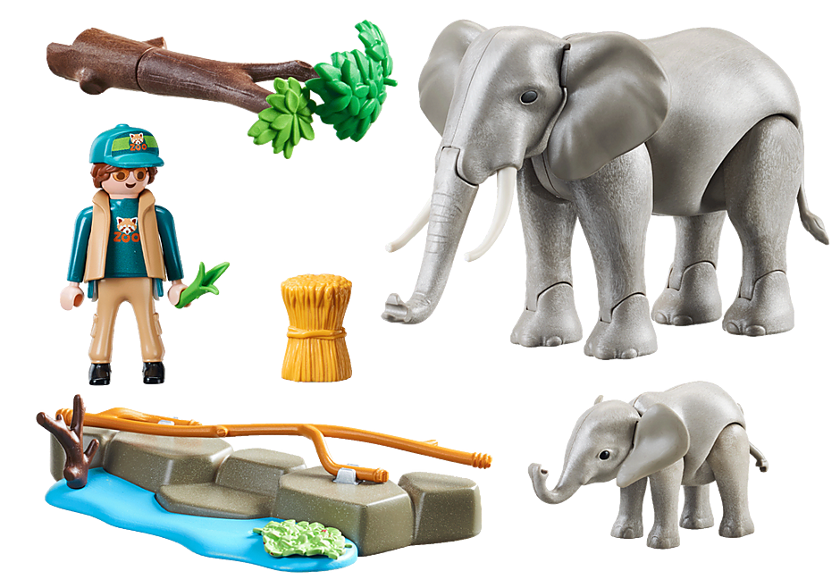 70324 Elefanter i indhegning detail image 3