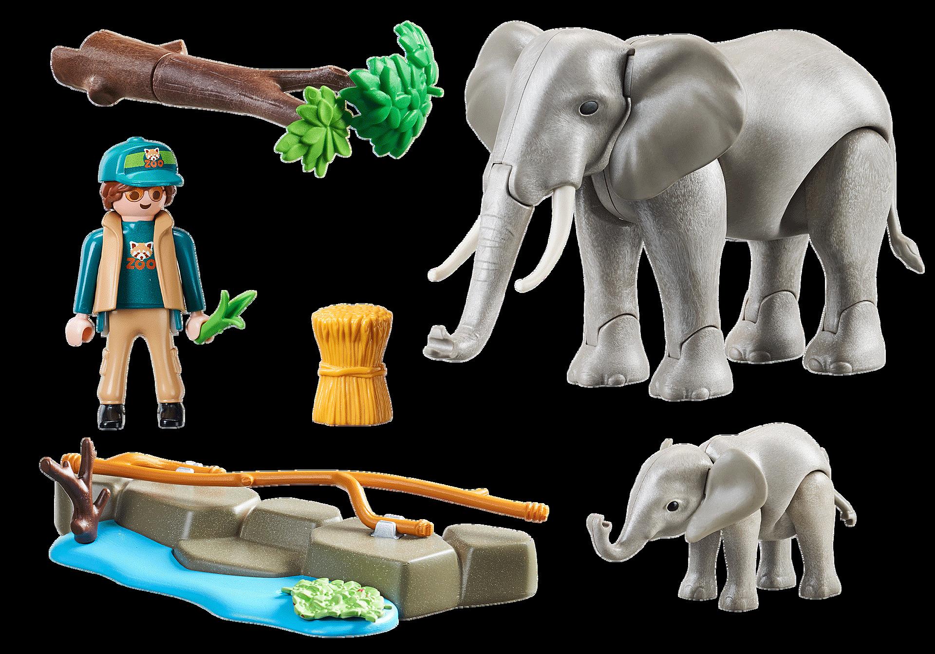 70324 Elefanter i indhegning zoom image3