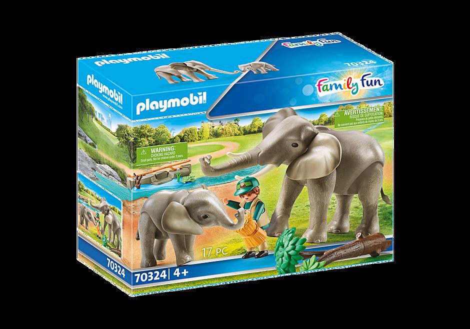 70324 Eléphants et soigneur  detail image 2